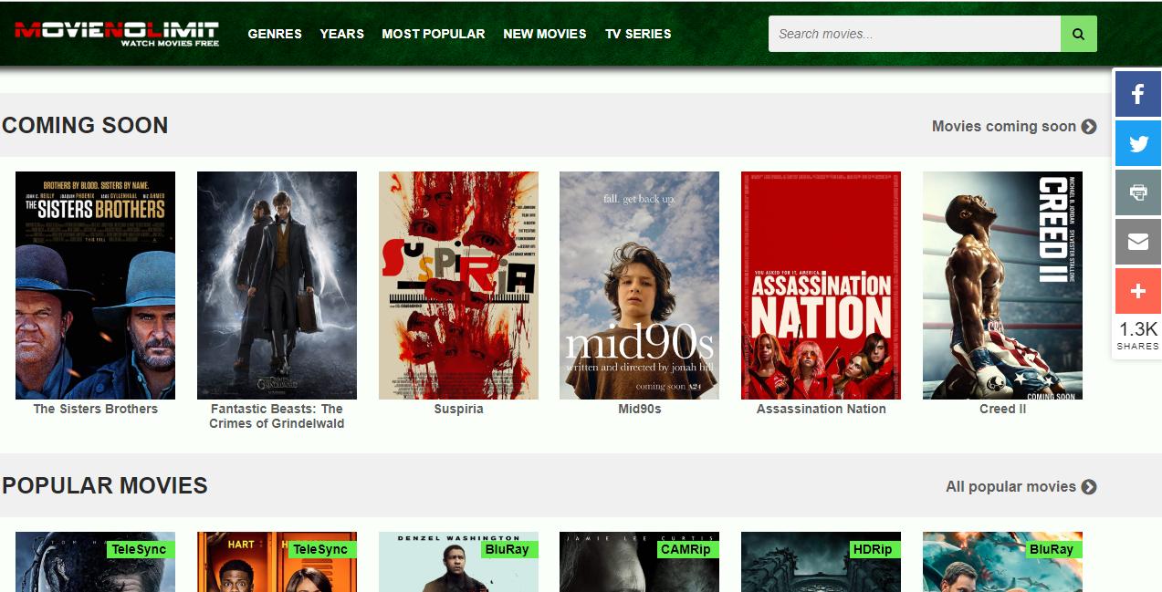 Best Free Movie Websites In 2018 4k Download