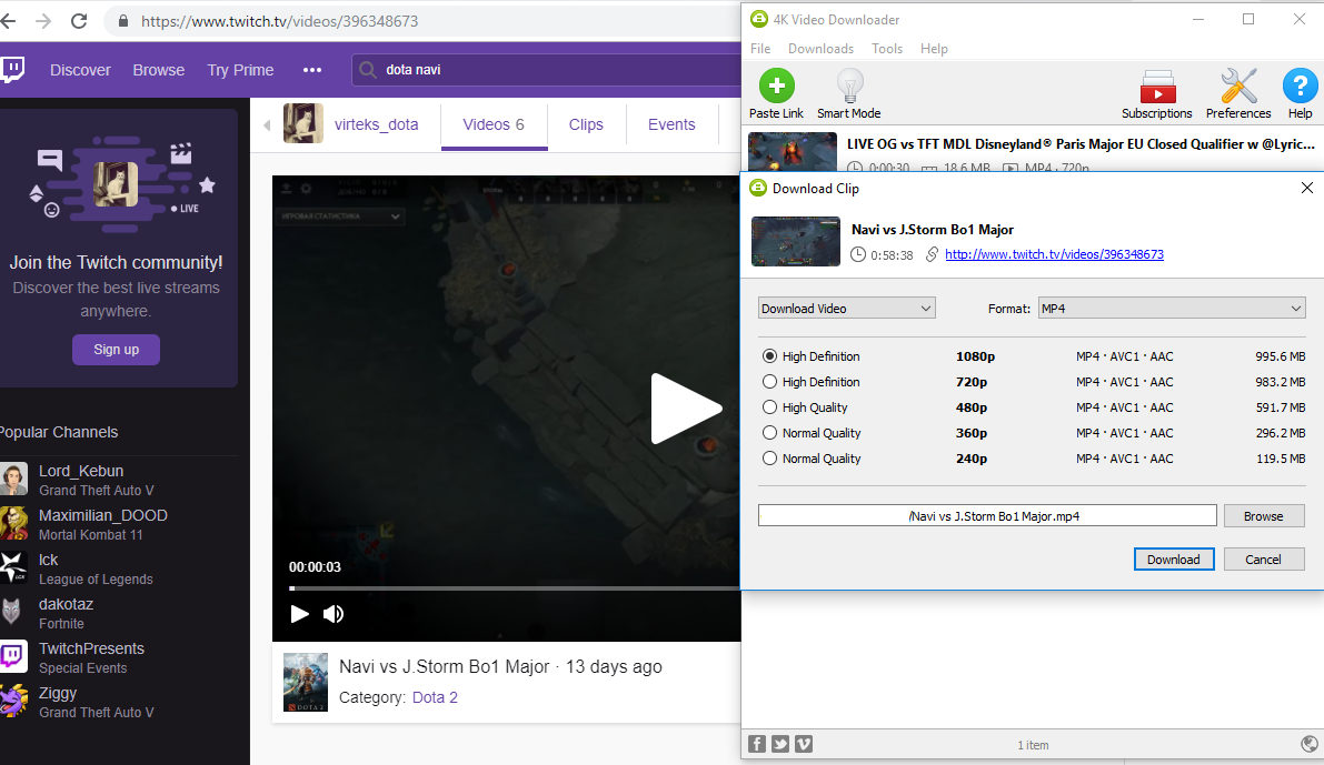 4K Video Downloader 4.7 released: Twitch and DailyMotion are back